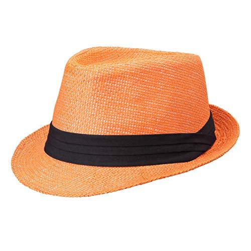 Michael Heinen - Cappello estivo in paglia da donna e da uomo, Trilby Pana, cappello da sole, cappello jazz, cappello da spiaggia, cappello da festa