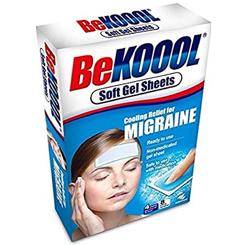 Buy Discount Be Koool Cooling Relief For Migraine Soft Gel Sheets 4 Each (Pack of 9)