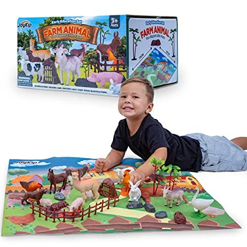 JoyKip Bauernhoftiere Spielzeug-Set für...