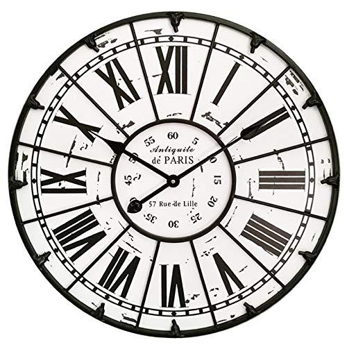 Jack Mall American Rural Antique Rome Horloge Murale Salon Maison Calme caractère Fer décorations (Taille : 60 cm)