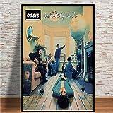 Poster Und Drucke Oasis Rockmusik Band Sterne Retro Album