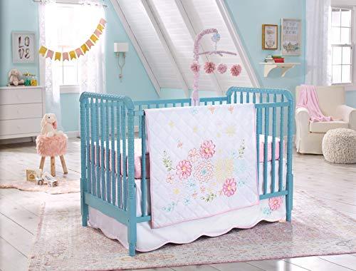 Koala Baby Pink Floral Springtime Slumber Crib Bedding Set and Accessories (4pcs Set)