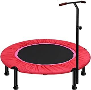 SYDDP 40″ Exercise Trampoline for Adults or Kids, Mini Fitness Trampoline with Adjustable T-bar Stability Handle Aerobic Bouncer Trampoline for Gym/Home, Max. Load 200kg in Red Bouncer
