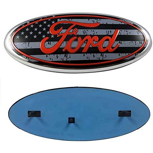F150 Frontgrill Heckklappen-Emblem für F-ord, 9 Zoll amerikanische Flagge Oval Decal Badge Typenschild für F-ORD 2004-2014 F250 F350, 11-14 Edge, 11-16 Explorer, 06-11 Ranger