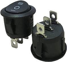 Taiss / 10Pcs AC 250V/6A, 125V/10A,Black ON/Off/ON SPDT,3 Pin 3 Position Mini Boat Rocker Switches Car Auto Boat Rocker Toggle Switch Snap (Warranty 1 Years)KCD1-5-103