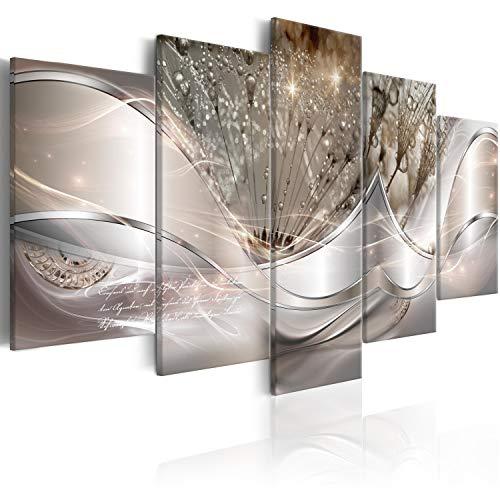 murando - Bilder Abstrakt Blumen 200x100 cm Vlies Leinwandbild 5 TLG Kunstdruck modern Wandbilder XXL Wanddekoration Design Wand Bild - Pusteblume a-C-0087-b-n