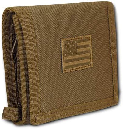 USA US American Flag Tactical Patriotic Military Trifold Wallet