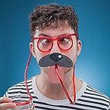 Paladone - Gafas para beber con pajita y 9 máscaras para boca, con pajita