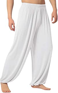 iYYVV Fashion Men's Casual Solid Loose Sweatpants Trousers Jogger Dancing Yoga Pant