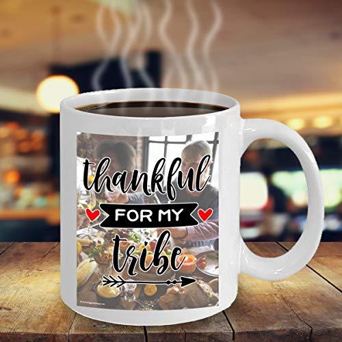Thanksgiving herfst val koffie thee cacao Hot chocolade mok wit cadeau dankbaar voor mijn stam 1