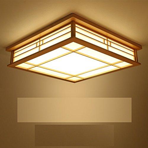 BRIGHTLLT Coréen Chambre à coucher principale Lumière Romantique Chaîne Carré Lampes de plafond Lampes de salon Lampes de restaurant Arcade Art en bois Promesse de créativité Gradation, 450mm