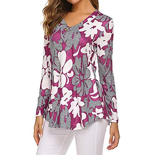 Damen Pullover T-Shirt Long Ärmel V-Ausschnitt Loose Gemütlich Color Matching Sweatshirt Frühling, Sommer und Herbst neu Outdoor Mode Casual Daily Wear Streetwear 4XL