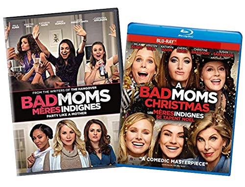 Bad Moms 2-Movie Collection: Bad Moms [DVD] / A Bad Mom's Christmas [Blu-ray] - Double Feature Comedy Set