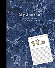 Preschool Draw and Write Journal Marble Composition (7.5 x 9.25 in. Notebook) Vol 1: Wide Solid Dotted Lines For Easy Writing (WRITING JOURNALS FOR KIDS)