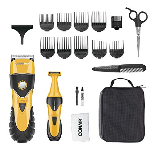 ConairMAN No-Slip Grip 20-Piece Home Haircut & Grooming Kit