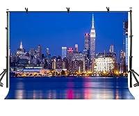 lylycty 10x 7ft City Night Backdrop Beautiful Seaside City Buildings写真背景とStudio写真バックドロップProps lyhui134