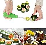 XUNTUO Taladro para Verduras con Cabezal - Cortador En Espiral para Verduras con Cabezal Reemplazable 1 Juego/Verde Claro