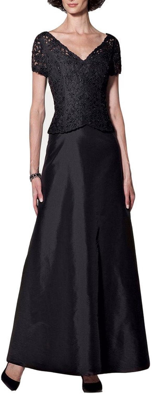 Emmani Women's With Short Sleeves Vneck Long Bride's Mother Dresses