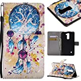 Lomogo Coque LG Stylus 2, Housse en Cuir Portefeuille avec Porte Carte Fermeture Par Rabat Aimanté Anti Choc Etui de Protection pour LG Stylus2 - KATU25956#3