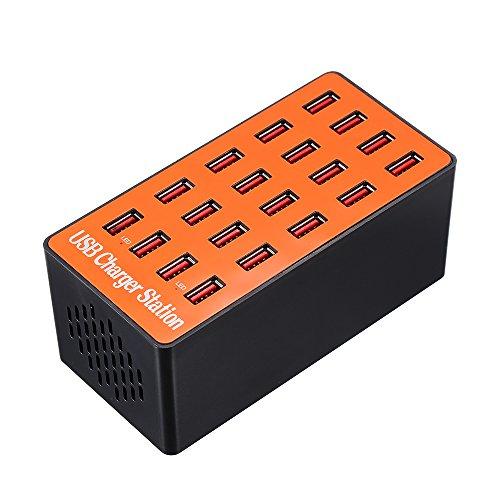 Docooler 100W Cargador de Pared USB de 20 Puertos Estación de Carga...