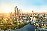 Moskau City Skyline Art XXL Wandbild Kunstdruck Foto