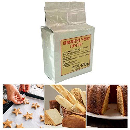 Lievito per pane 500g Biscotto a basso contenuto di zucchero Lievito secco ad alta attivazione Pane lievitato Panino al vapore Lievito Polvere da forno Forniture da cucina