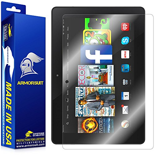 ArmorSuit MilitaryShield Screen Protector for Amazon Kindle Fire HDX 8.9 - [Max Coverage] Anti-Bubble HD Clear Film