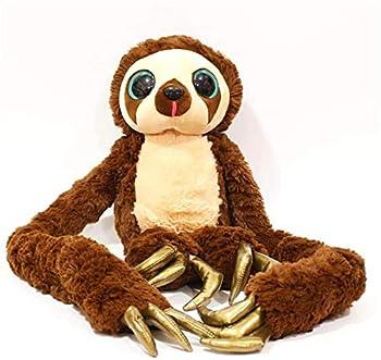 ZCZC Longarmed Sloth Belt Monkey Plush Soft Toy,Animal Long Arm Toy Soft Stuffed Plush Doll Toy Gift for Children