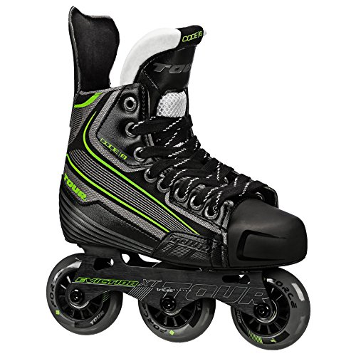 Tour Hockey Code 9 Jr Inline Hockey Skate, Black/White/Red, 01