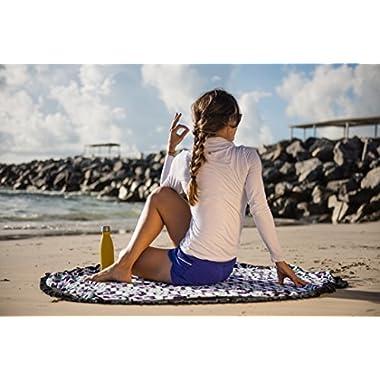 Sternitz Beach Towel Beach & Outdoors. 100% Cotton, 59  diameter. (Purple)