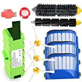 Replacement 5200mAh Lithium Battery + Accessory Part Kit for iRobot Roomba...