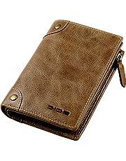 【Amazon限定ブランド】DIDE 財布 メンズ 二つ折り 本革 L字型ファスナー 小銭入れ 父の日のプレゼント