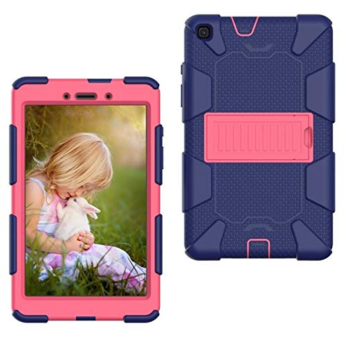 GHC PAD Cases & Covers For Samsung SM-T290 Case 8.0 Inch T290 T295, EVA Shockproof Tablet Stand Cover for Samsung Galaxy Tab A 8.0 2019 SM-T295 (Color : Navy rose)