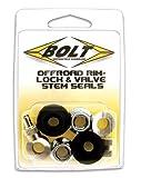 Bolt Motorcycle Hardware (2007-RVS) Rim Lock and Valve Stem Seal
