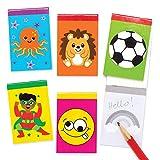 Baker Ross AT906 Taccuini Assortiti, per borse da festa per bambini e piccoli giocattoli per bambini (confezione da 20), assortiti
