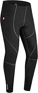 qualidyne Men's Cycling Bike Pants 3D Padded Winter Cycling Tights Compression Outdoor Riding Bicycle Leggings