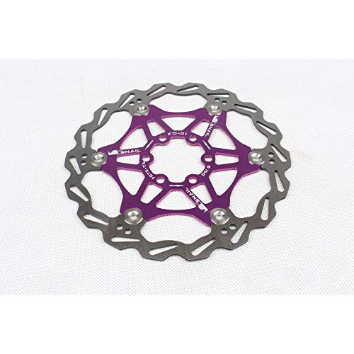 SZMYLED Mountain Bikes Rotors Floating Disc Brake Rotors 160MM/180MM/203MM Bike Brake Disc Rotor MTB Stainless Steel with Screws Purple 160MM Boxed