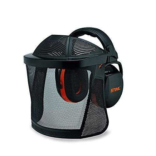 Stihl Unisex– Erwachsene Gesichtsschutz Gehörschutz kurz, Nylongitter, schwarz