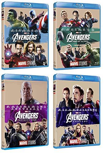 Avengers Collection (4 film in BLU-RAY Edizione 10° anniversario) Edizione Italiana - The avengers + Age of Ultron + Infinity war + Endgame
