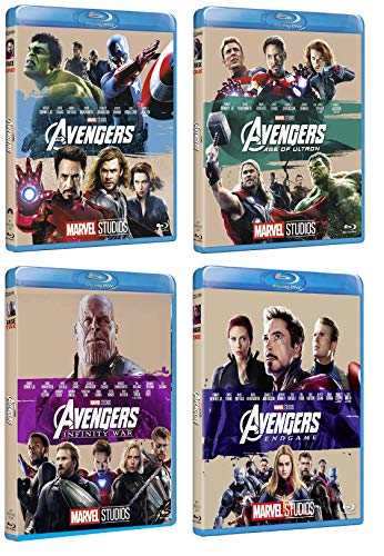 Avengers Collection (4 film in BLU-RAY Edizione 10° anniversario) Edizione Italiana - The avengers + Age of Ultron + Infinity war + Endgame