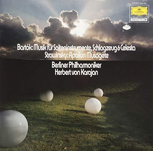 Béla Bartók / Igor Stravinsky - Berliner Philharmoniker - Herbert Von Karajan - Musik Für Saiteninstrumente, Schlagzeug & Celesta / Apollon Musagète - Deutsche Grammophon - 2535 434