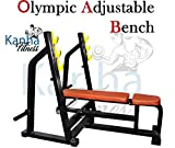 KanhaFitness Incline, Decline, Flat Gym Adjustable Olympic 3-in-1 Bench