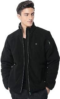 Pau1Hami1ton Men's Sherpa Fuzzy Fleece Heated Jacket Full-Zip Use Your Own 5v/2a(Power Bank) PJ-05