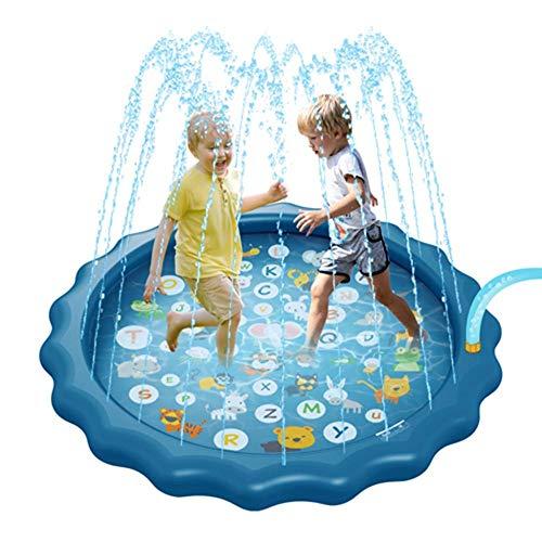 QXbecky Verano al Aire Libre Durante Estera170cmJuguete Inflable del Agua Splash Pad de Piscinas al Aire Libre de los niños DivertidosStyle1 PVCPiscina