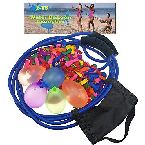 Supertop Wasserbomben Mit 100 Ballons,Wasserballon Schleuder Steinschleuder 400 Meter Lange Reichweite,Werfer Wasserkanonen Großer Schleuder Gruppenspiele,Wasserspiele Sommerfest Spielzeug