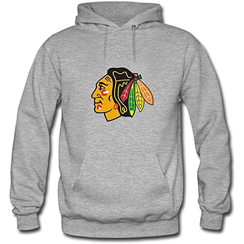 Timika Campbell Men's Chicago Blackhawks Primary Logo Custom Sweatshirt Hoodie Grey