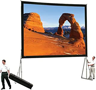 Da-Lite Dual Vision Heavy Duty Deluxe Fast Fold Complete Front and Rear Projection Screen - 6' x 8' Size: 13'6