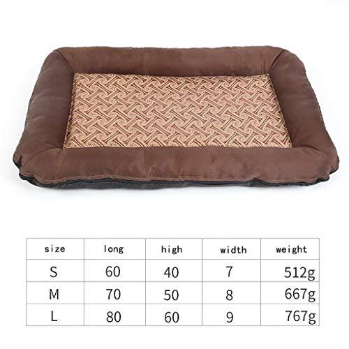 YCYG Haustierausrüstung Haustierbett, Zwinger Small Medium Dog Summer Cool Nest Hundebett Wasserdichter Sitz for Haustiermatten, Haustierbett, Hundematte, Beißfestes, herausnehmbares Schwammbett