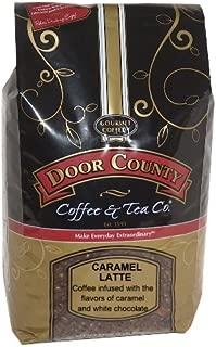 Door County Coffee, Caramel Latte, Wholebean, 5lb Bag