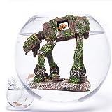 Decoración para acuario de peces, diseño de robot de resina en forma de perro, creativa Betta Fish Hide Cueva Fish House Paisaje, accesorios Cove decoración del hogar